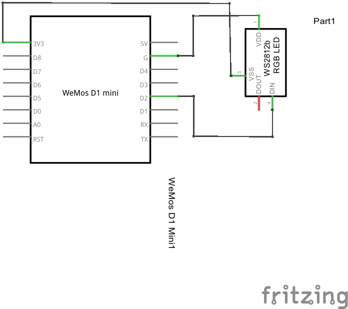 wemos mini ws2812b example