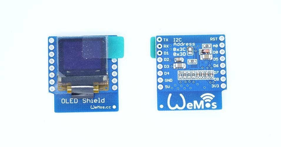 Wemos OLED shield example - esp8266 learning