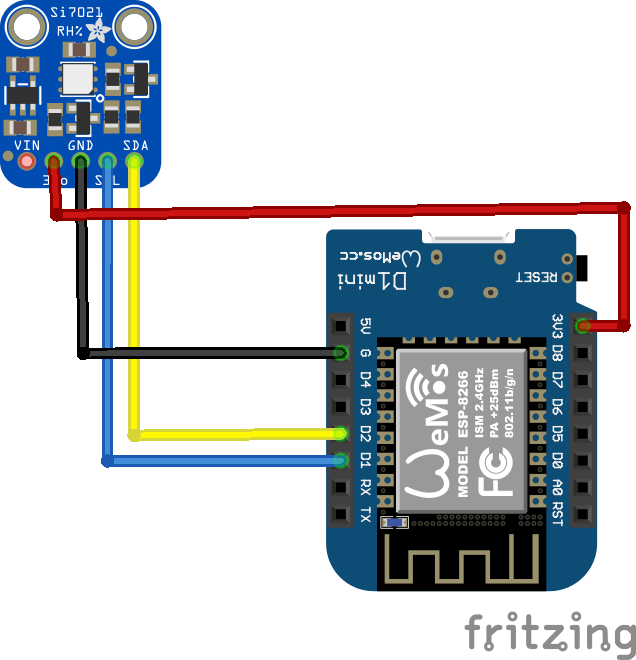 Esp8266 And Si7021 Temperature Sensor Example Esp8266