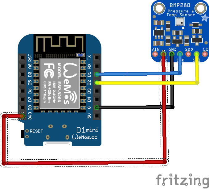 Esp8266 And Bmp280 Sensor Example Esp8266 Learning